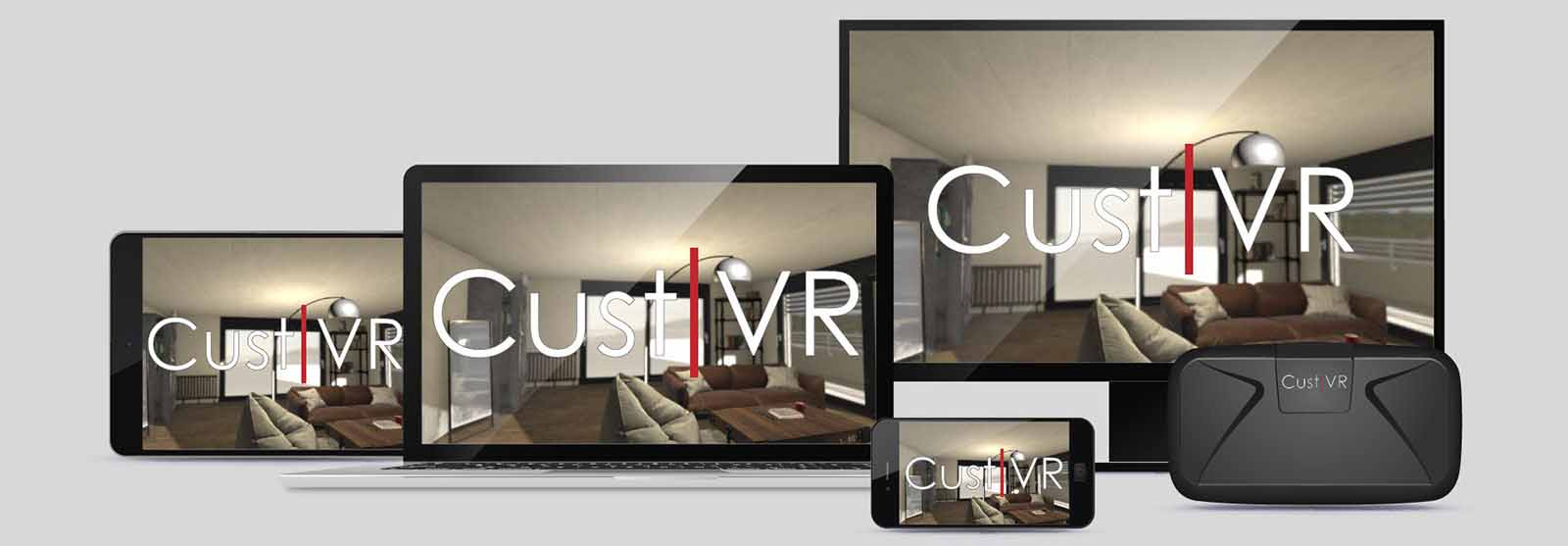 Application CustVR accessible par mobile, tablette, Web et lunettes VR